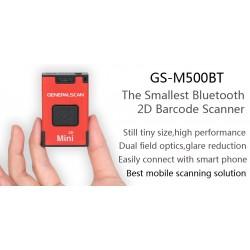 2D GS-M500BT Bluetooth Companion Barcode Scanner