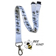 Bee Kind Lanyard With Safety Breakway