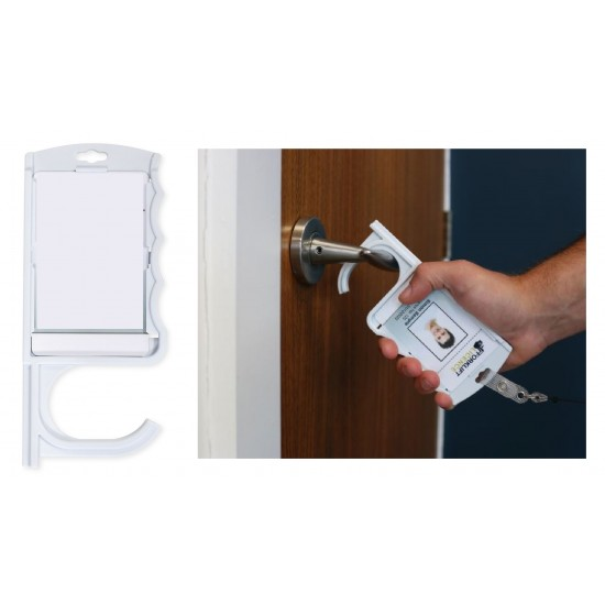 Vertical Antimicrobial Door Opening ID Card Holder