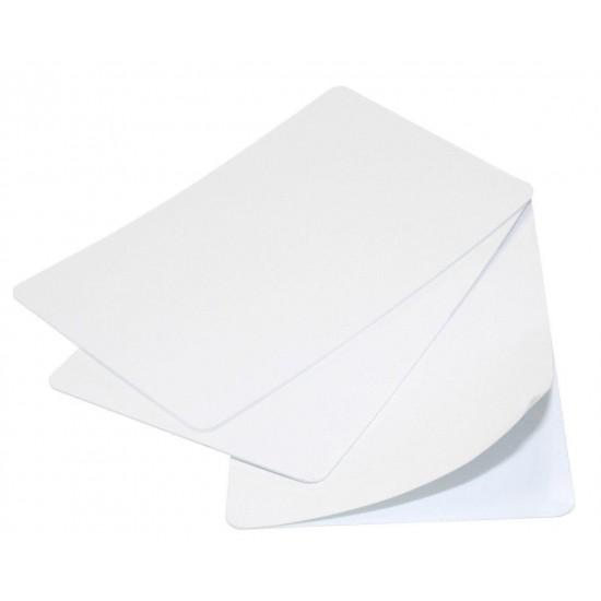 100 X Blank White Self-Adhesive 320-Micron Plastic Cards