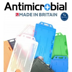 Dual Sided Antimicrobaterial ID Card Holder Portrait