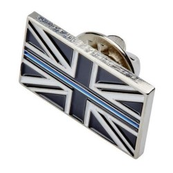 Thin Blue Line Lapel Pin Badge