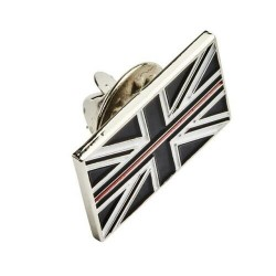 Thin Red Line Lapel Pin Badge
