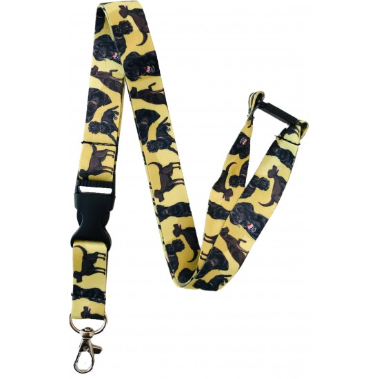 Dog Print Lanyard With Detachable Buckle Clip - Choose Your Breed
