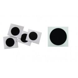 10 x NTAG® 215 25mm Black Stickers