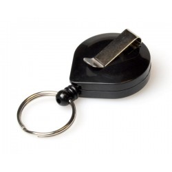 Black ID Badge Reels with Ratchet & Key Ring
