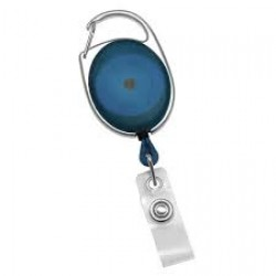 Blue Carabiner Retractable Badge Reel