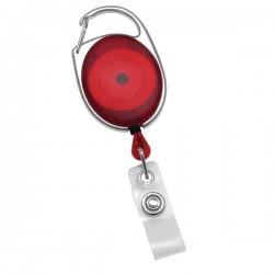 Red Carabiner Retractable Badge Reel