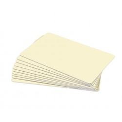 Cream PVC Cr80 Cards - 100 pack