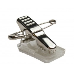 Metal Crocodile ID Card Clip with Pin & Self-Adhesive Pad
