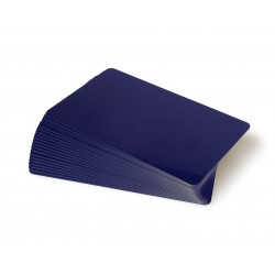Dark Blue PVC Cr80 Cards - 100 pack