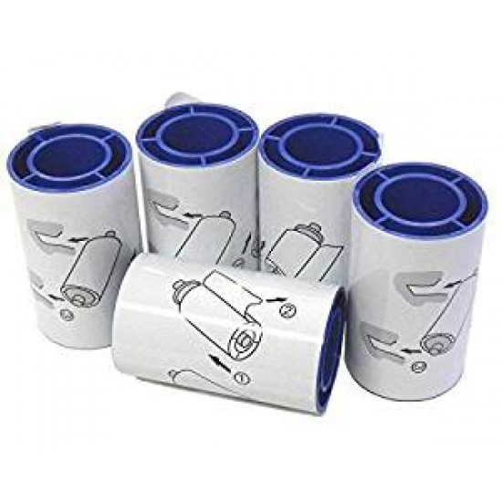 Datacard Badge/Card Printer Spare Cleaning Adhessive Rollers - 5 Pack