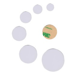 13.56mhz NFC x 25 PVC Disc tag 20mm with 3M Glue