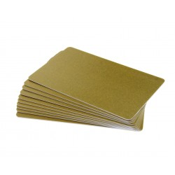 Gold PVC Cr80 Cards - 100 pack
