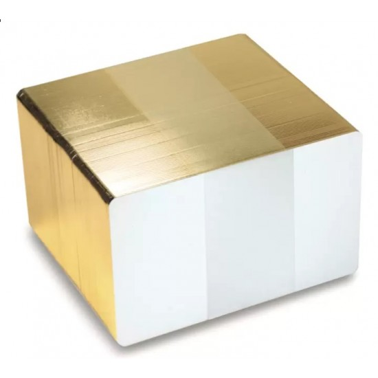 FOTODEK 'ICE' Premium Quality Blank White Plastic Cards - Gold