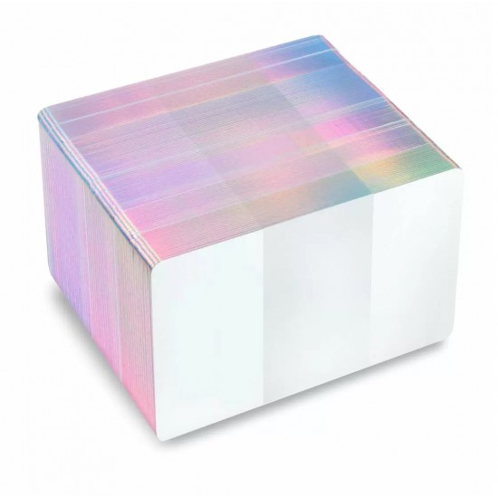 FOTODEK 'ICE' Premium Quality Blank White Plastic Cards - Silver