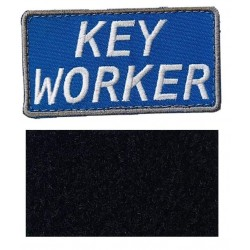 Blue Keyworker Hook & Loop Patch