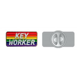Rainbow Key worker Pin Badge