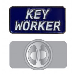 Blue Key Worker Pin Badge