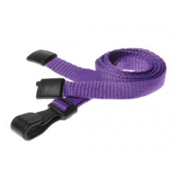 100 x 10mm Plain Colour Lanyards with Plastic J hook