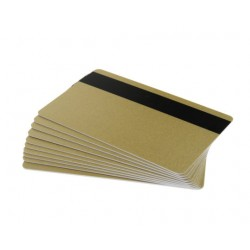 100 Light Gold 760 Micron Cards with Hi-Co Mag
