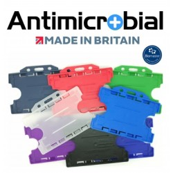 Dual Sided Antimicrobaterial ID Card Holder Landscape