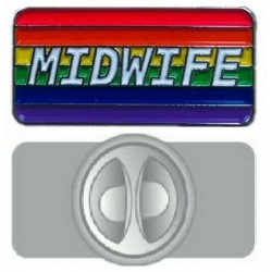 Rainbow Midwife Pin Badge
