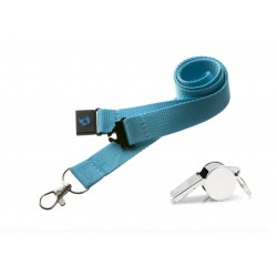 Duck Egg Blue Hi Quality 20mm Lanyard with Metal Whistle