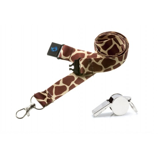 Giraffe Hi Quality 20mm Lanyard with Metal Whistle