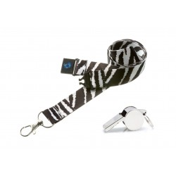Zebra Hi Quality 20mm Lanyard with Metal Whistle