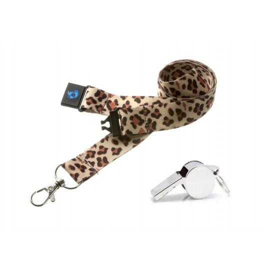 Cheetah Hi Quality 20mm Lanyard with Metal Whistle