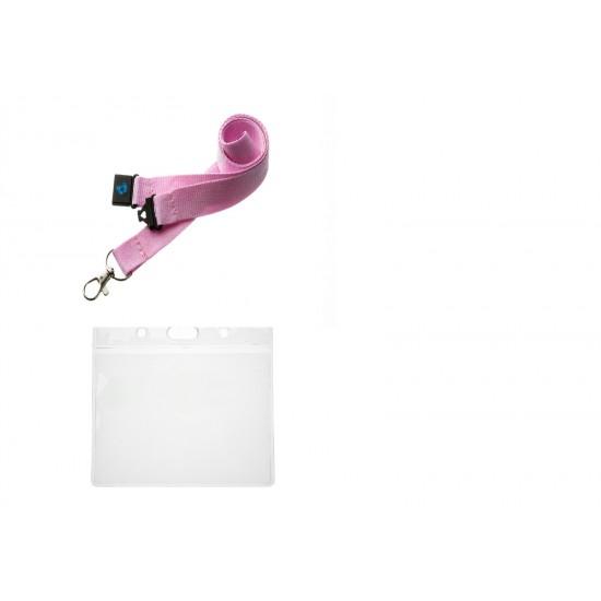 Lanyard With Flexible Plastic ID Card Pocket