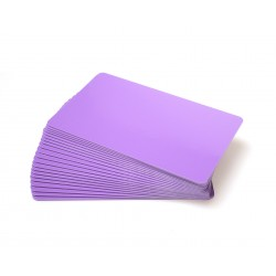 Purple PVC Cr80 Cards - 100 pack