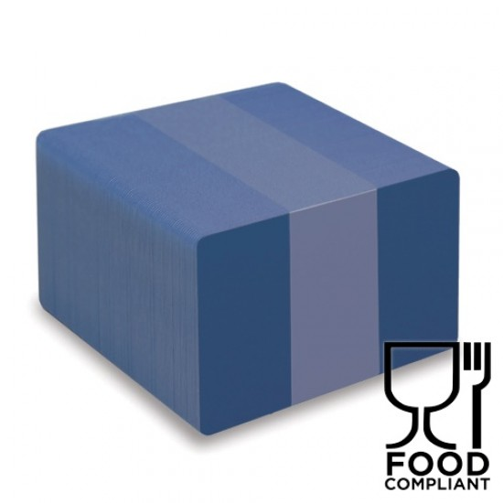 Royal Blue PVC Food Compliant Cards