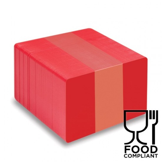 Red PVC Food Compliant Cards