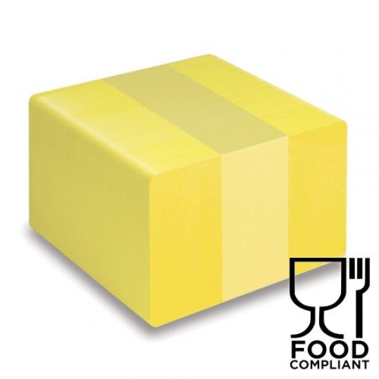 Yellow PVC Food Compliant Cards