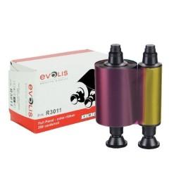 Evolis R3011 YMCKO Colour Ribbon (200 Prints)