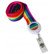 Rainbow Badge Reel Lanyard