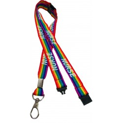 15mm Rainbow Nurse Lanyard With 3 Point Breakway
