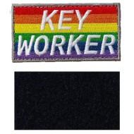Rainbow Key Worker Hook & Loop Patch