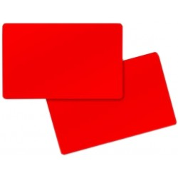 Red PVC Cr80 Cards - 100 pack