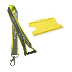 Reflective Security Lanyard With Single Card Holder
