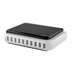 Saveo Pocket Scan 10 Port Mains Powered USB Charging Station