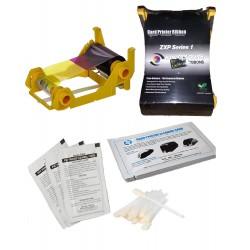 Zebra ZXP Series 1 YMCKO 200 Image Compatible Ribbon & Cleaning Kit Bundle …