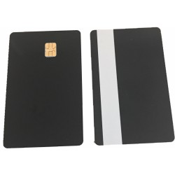 100 x Black Sle4442 Cards With Silver Magstripe