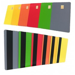 10 x Colour Sle4442 Card With Magstripe