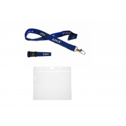 Lanyard With Flexible Plastic ID Card Pocket
