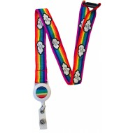 20MM Rainbow Lanyard With Integrated Badge Reel  - Storms Don't Last Forever