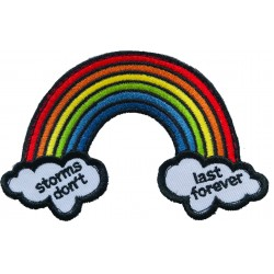 Rainbow Hook & Loop Patch - Storms Dont Last Forever
