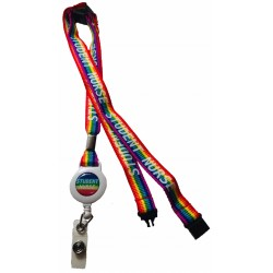 15mm Rainbow Student Nurse Lanyard With 3 Point Break